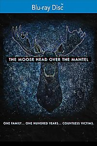 MOOSE HEAD OVER THE MANTEL